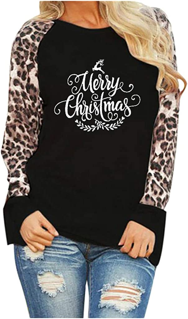 XUETON Women Long Sleeve Cheap SALE Start Shirt Printed Fashion Christmas mart Graphic