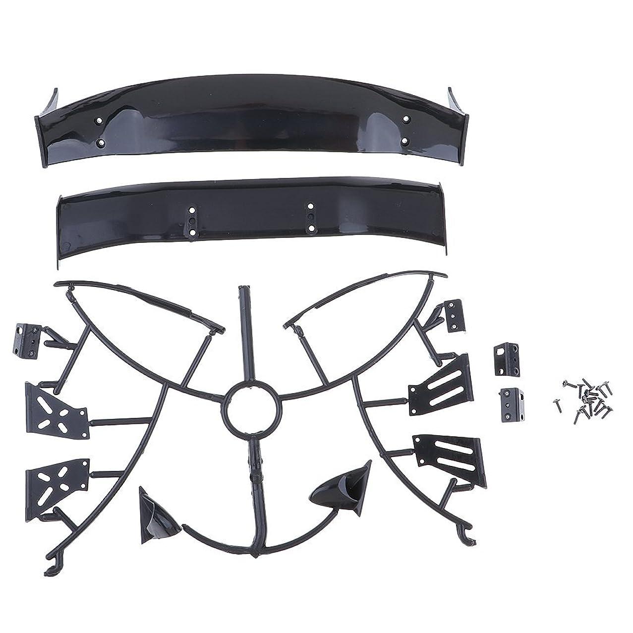 Homyl 1/10 RC Drift Car Rear Wing Frame Plastic RC Drift Car Wings Accessories Set