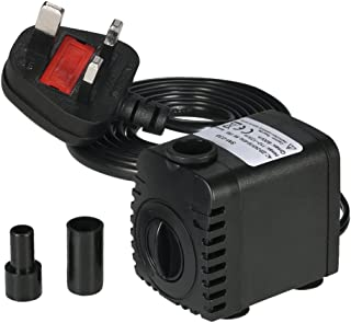 Decdeal Submersible Pump 600L/H 8W Submersible Water Pump for Aquarium Tabletop Fountains Pond Water Gardens and Hydroponi...