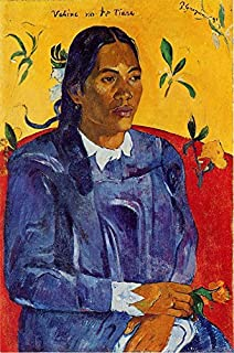 Vahine No Te Tiare also known as Woman with a Flower by Paul Gauguin - 18