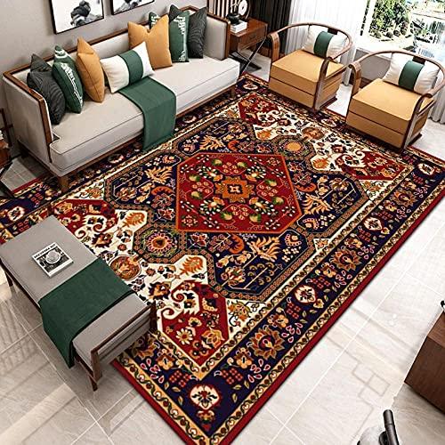 KaO0YaN,Alfombra de área de la Vendimia Persia, Alfombra Antideslizante, Sala de Estar alfombras Grandes, alfombras de área para Dormitorio y decoración del hogar(8,160x230cm)