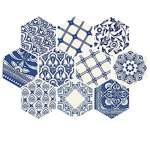 azulejos adhesivos cocina,10 piezas de pegatinas de pared de baño y cocina, pegatinas de piso de seis caras antideslizantes pegatinas de azulejos decorativos -001