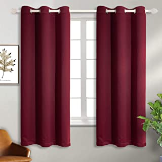 Best BGment Burgundy Blackout Curtains for Bedroom - Grommet Thermal Insulated Room Darkening Curtains for Living Room, Set of 2 Panels (42 x 63 Inch, Dark Red) Review