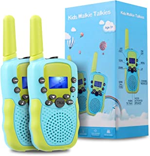 OMWay Toys for 4-5 Year Old Boys, Walkie Talkies for Boys Age 5-10,Outdoor Toys for Kids Toddlers,Kids Camping Gear,3-12 Year Old Boy Gifts,2 Way Radio,2 Miles,Birthday Gifts Ideas.