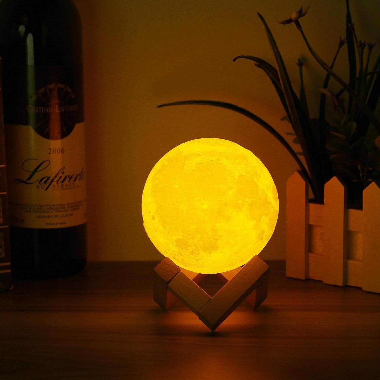 DADEQISH DADEQISH DADEQISH 10 cm 3D Magische Zwei Ton Mond Tischlampe USB Lade Luna LED Nachtlicht Touch Sensor Geschenk Innenlicht B07M84H6M3  | Marke  bdfbd8