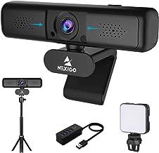 2K Zoomable Webcam Kits, NexiGo 1440P 3X Digital Zoom Web Camera, Extendable Tripod Stand, Video Conference Lighting, USB ...