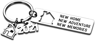 2021 New Home Housewarming Key Chain Gift for Men Women Realtor Closing Gift for New Homeowners Christmas New Year Gift to...