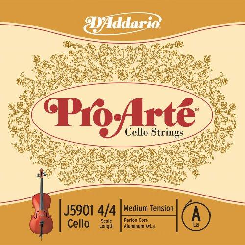 D'Addario J5901-4/4M Pro Arte - (4/4, aluminio, tensión media)