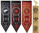Flag for Game Banner Throne s Haus Banner 3pk, Haus Stark Flagge, Targaryen Flagge, Lannister Flagge