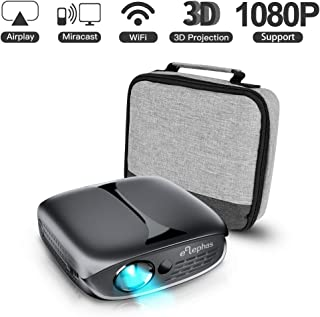 3D Mini Projector, ELEPHAS 100 ANSI Lumen Wifi DLP Portable Pico Video Projector for iPhone Android Smart-Phone Supports HDMI USB YouTube Koala, Ideal For Outdoor Movie Night Party