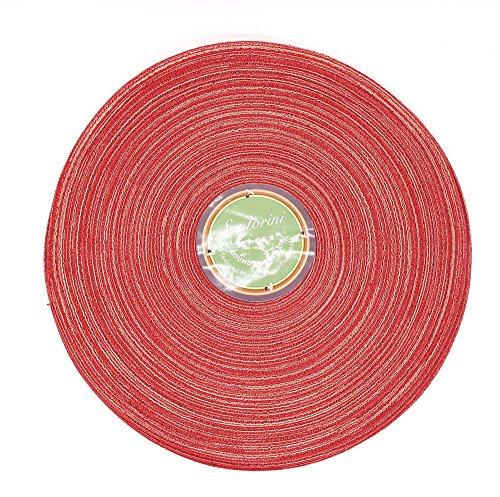 Santorini 4 Individuales de Mesa Redondos Rojos de 38cm