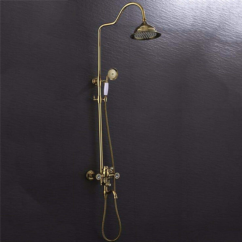 Lvsede Bad Wasserhahn Design Küchenarmatur Niederdruck Startseite Retro-Dusche VerGoldet Hei Und Kalt Kupfer Bad Aufzug Dusche G2360