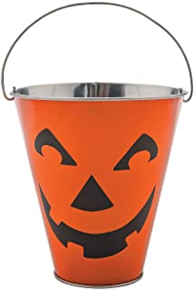 Jack O Lantern Galvanized Pails for Halloween - Party Supplies - Containers & Boxes - Metal Containers - Halloween - 12 Pieces