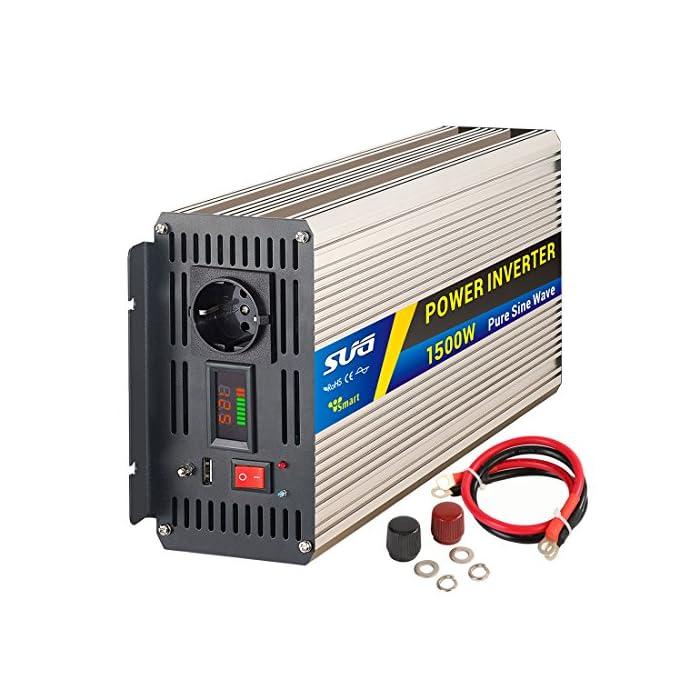 Sug Convertisseur Pur Sinus 1000w onduleur 12V à 220V Onde sinusoïdale Pure Power Inverter