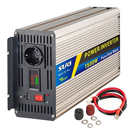Sug 1500W DC 12V auf AC 220V 230V Wechselrichter Spitzenwert 3000W Spannungswandler Power Inverter Pure Sine Wave