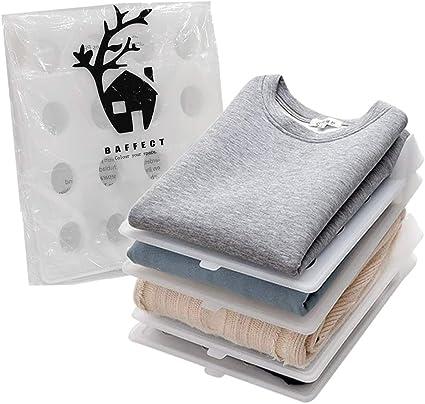 Baffect Plegable Organizadores de Armario Camisa de la Camisa, Conjunto de 5 Camisetas Divisor Organizador de la estantería Cajón de Armario Ropa de ...