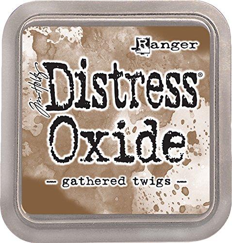 Ranger TDO56003 Tim Holtz Distress Oxide Ink Pad Gathered Twigs, Marron, 7,5 x 7,5 x 1,9 cm