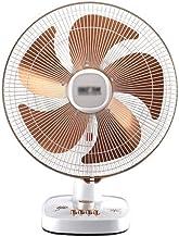 Bureau Ventilateur électrique, 5 feuilles Remuer la tête du ventilateur de refroidissement fort vent 3 vitesses Réglage bu...