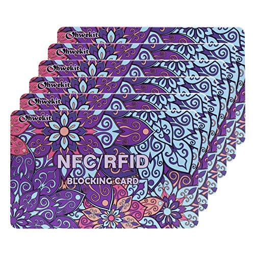 RFID Blocking Cards - 6 Pack, Premium Contactless NFC Debit Credit Card Passport Protector Blocker...