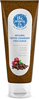 Natural Cranberry Coffee Face Scrub for Radiant and Clearer Skin with Cranberry , Coffee and Vitamin C (75gms)