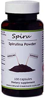 Hekma Center Pure Spirulina Powder Multivitamin and Mineral Supplement - 100 Capsules - Vegan