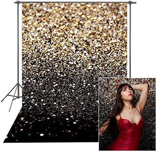 Avezano Fondo dorado con purpurina de 1,5 m x 2,1 m para fot