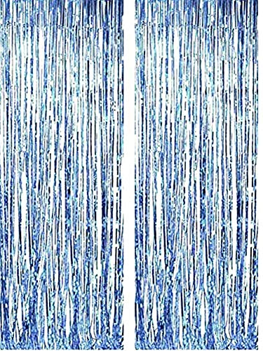 Party tents - birthday - metal - fringes - window fittings - doors - 1.90 x 1 m long - light blue color - 2 piece pack - Christmas and birthday gift idea