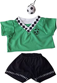 Green Soccer Uniform Outfit Teddy Bear Clothes Fit 14