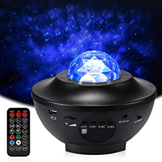 Delicacy Sky Laser Star Projector Ocean Wave Night Light Projector with Bluetooth Speaker Rotating LED Nebula Cloud Light for Home Theatre,Kids Adults Room Decoration