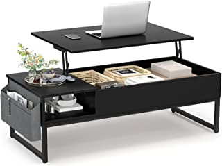 Aheaplus Lift Top Coffee Table with Storage, 43.3