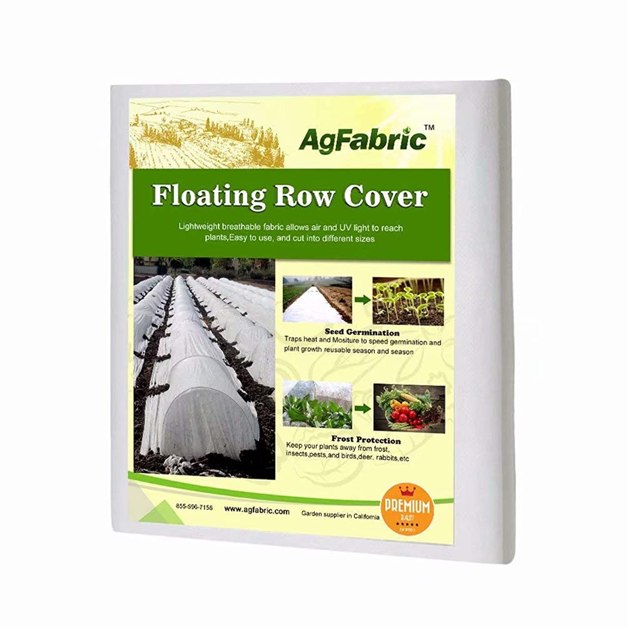 Agfabric Freeze Protection Floating Row Cover,1.2oz 14'x15' Winter Garden Plant Cover Frost Protection Plant Blanket tusujdlibbqoj835