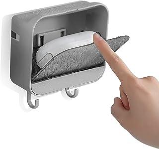 石鹸置き ふた付き 水が流れる せっけんおき ケース おしゃれ 水切り 石鹸ケース ソープディッシュ お風呂 壁 ソープトレイ