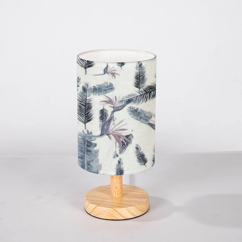 Minimalist Bedside Table Fashion Lamp Cobalt Tropi Design Indigo Pattern Great interest