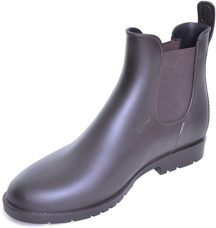 Dear Time Women Casual Elastic Side Panel Chealsea Rain Boots
