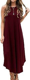 Halife Women's Summer Casual Stripe Sleeveless Loose...