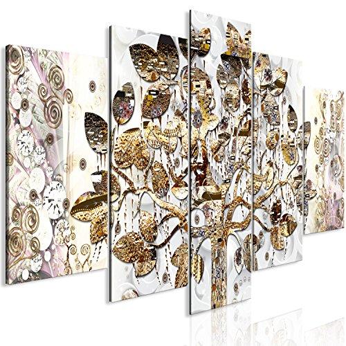 murando - Cuadro en Lienzo Gustav Klimt 225x100 cm Impresión de 5 Piezas Material Tejido no Tejido Impresión Artística Imagen Gráfica Decoracion de Pared Arbol Árbol de la Vida a-A-0356-b-m