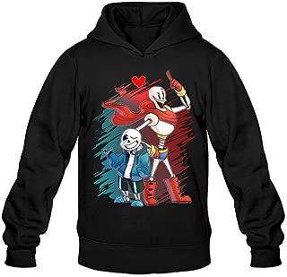 YQUE Men's Undertale Sans and Papyrus Hoodies Sweatshirt Black
