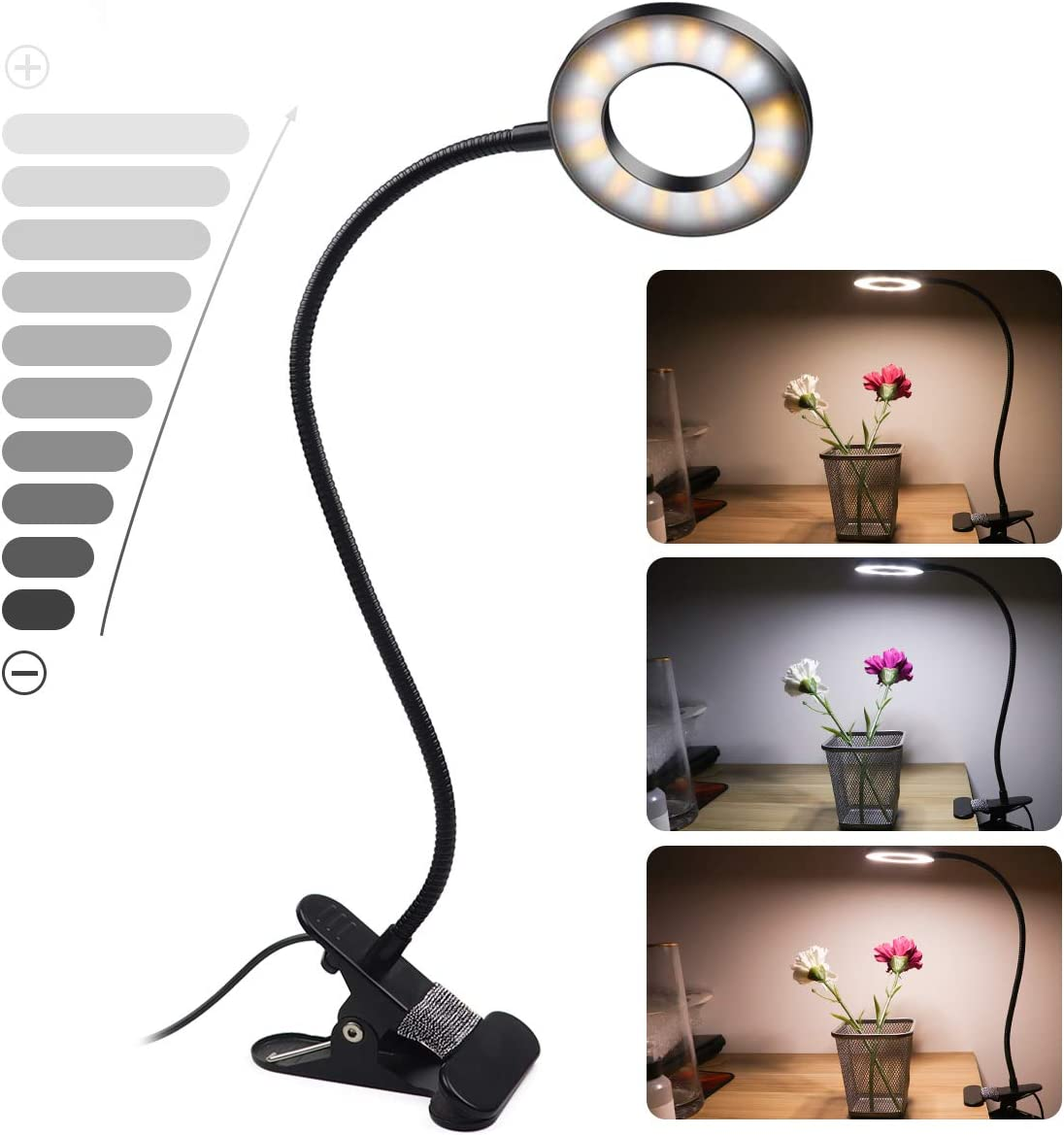 CLOOOUDS Clip On Light Lamp Fixed price Fashion for sale Desk LED L Reading USB