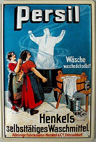 Persil - Henkels selbsttätiges Waschmittel Blechschild, 20 x 30 cm