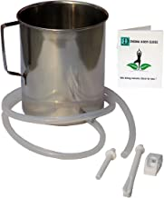 Food Grade Stainless Steel Enema Kit with Instruction Booklet| Size : 2 Quartz | Silicon Tubing | Nozzle Set | Clamp