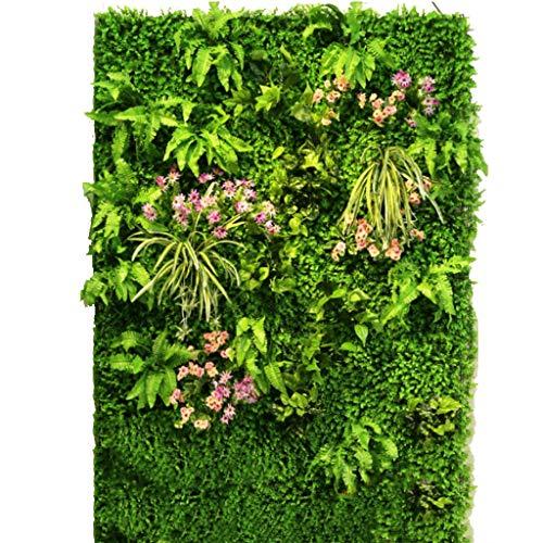 YNFNGXU Decoración Artificial de la Pared del Lugar del Ocio de la Tienda de la Almohadilla de la Pantalla de la Aislamiento de la Planta del seto Artificial (Color : 03)