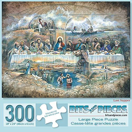 Bits and Pieces 300 Piece Jigsaw Puzzle per Adulti Ultima Cena 300 Pc Puzzle Religiosa Artista Ruane Manning