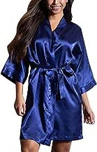 Women Sexy Silk Satin Lace Kimono Lingerie Dressing Robe Splice Fashion Bath Robe Sleepwear Pajamas Cardigan Babydoll Nightgown Sleepwear With Belt