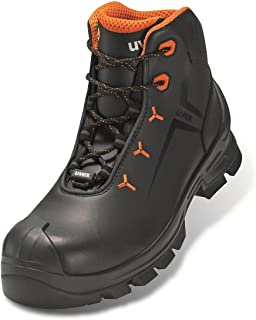 Uvex Boot 6523/2 S3 Size 52 PU/Rubber W11 Chaussure de protection incendie et de sécurité, Orange/Noir