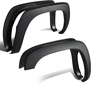 For 99-06 Chevy Silverado/GMC Sierra Factory Style 4pcs Paintable ABS Smooth Wheel Fender Flares (Black)