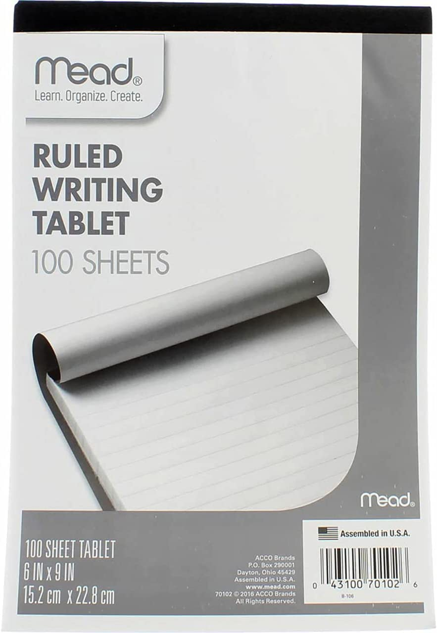 Mead Ruled Writing Tablet 100-Sheets 6