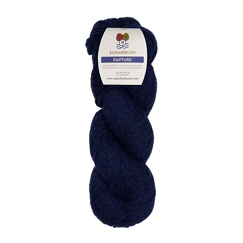 Sugar Bush Yarn Rapture Yarn, Intense Indigo