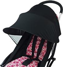Parasol universal para cochecito de bebé, protección contra rayos UV, contra el viento y protección solar, impermeable, de tela