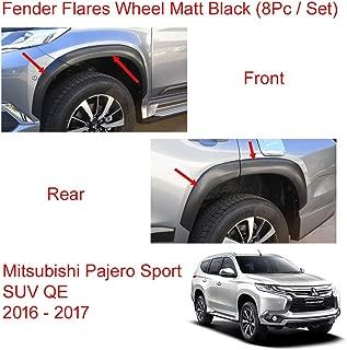 Powerwarauto Set Fender Flares Wheel Front Rear Matt Black for Mitsubishi Pajero Montero Sport SUV Medium Black Medium Black