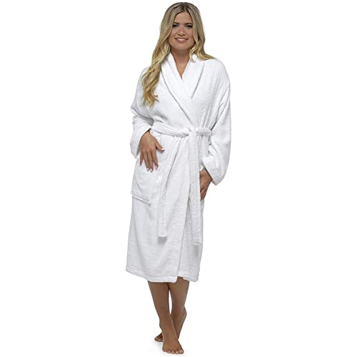 8c6be9bcaf Ladies Robe Luxury Terry Towelling Cotton Dressing Gown Bathrobe Highly  Absorbent Women Hooded and Shawl Towel